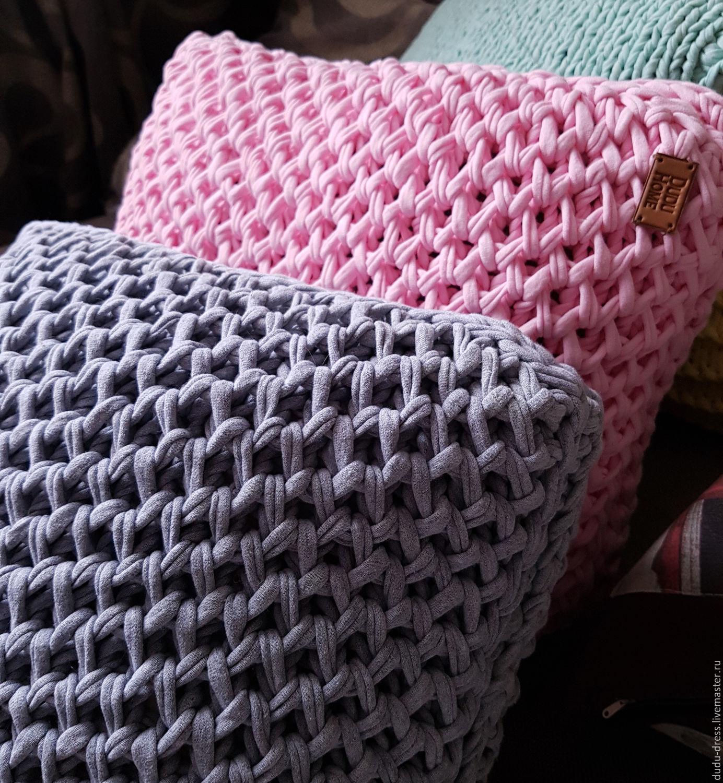 Вязаные подушки Сакура, Ментол, Ваниль – купить в интернет ...