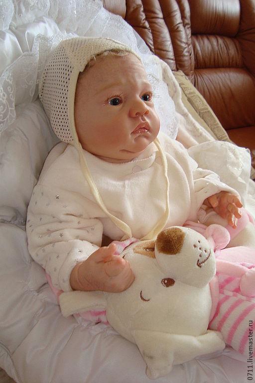 Куклы-младенцы и reborn ручной работы. Ярмарка Мастеров - ручная работа. Купить Патрик. Handmade. Бежевый, Глаза немецкое стекло