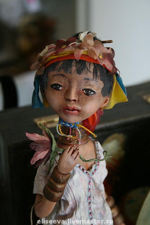 Коллекционные куклы ручной работы. Ярмарка Мастеров - ручная работа. Купить Кукла Цветок Бирмы. Handmade.