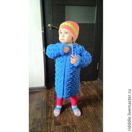 Одежда для девочек, ручной работы. Ярмарка Мастеров - ручная работа. Купить Детский кардиган. Handmade. Синий, детская одежда