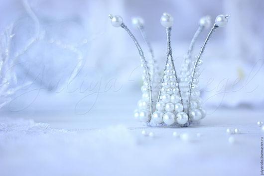 Диадемы, обручи ручной работы. Ярмарка Мастеров - ручная работа. Купить Корона из жемчуга. Белая жемчужная корона для принцессы.. Handmade.