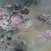 Картины и панно ручной работы. Ярмарка Мастеров - ручная работа Цветочная роспись. Handmade.