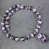 Украшения handmade. Livemaster - original item Madagascar Amethyst Natural Necklace with a pendant. Handmade.