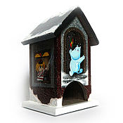 Для дома и интерьера ручной работы. Ярмарка Мастеров - ручная работа Зима в купальне муми-троллей. чайный домик. Handmade.