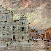 Картины и панно handmade. Livemaster - original item Mariinsky theatre painting pastel cityscape. Handmade.