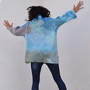 """Одежда ручной работы. Ярмарка Мастеров - ручная работа Джемпер валяный """"Оттенки неба"""". Handmade."""
