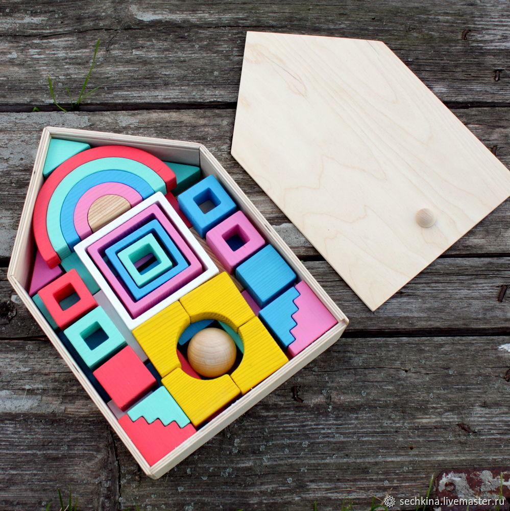 Развивающие игрушки ручной работы. Ярмарка Мастеров - ручная работа. Купить Кубики деревянные Большой набор 'Зефирные цвета'. Handmade.