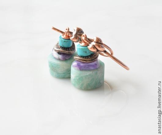 серьги мятные серьги купить серьги красивые серьги бижутерия украшения