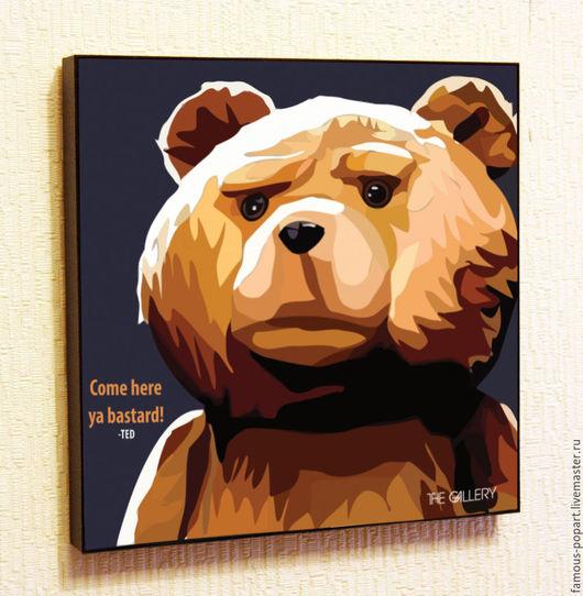 Фотокартины ручной работы. Ярмарка Мастеров - ручная работа. Купить Картина Тед Поп Арт. Handmade. Поп-арт