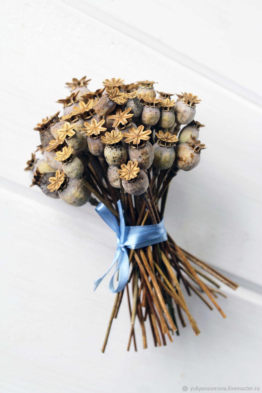 Сухоцветы: букет из маковых коробочек, Букеты, Ярославль,  Фото №1