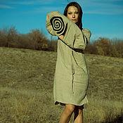 "Одежда handmade. Livemaster - original item ""Folk""  Ethnic linen tunic Linen Dress hand-made Midi native dress. Handmade."