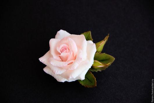 Броши ручной работы. Ярмарка Мастеров - ручная работа. Купить Брошь с розой. Handmade. Бледно-розовый, роза, брошь с цветами