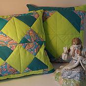 Для дома и интерьера ручной работы. Ярмарка Мастеров - ручная работа Декоративные подушки в стиле пэчворк в комплекте из 2 экзземпляров.. Handmade.