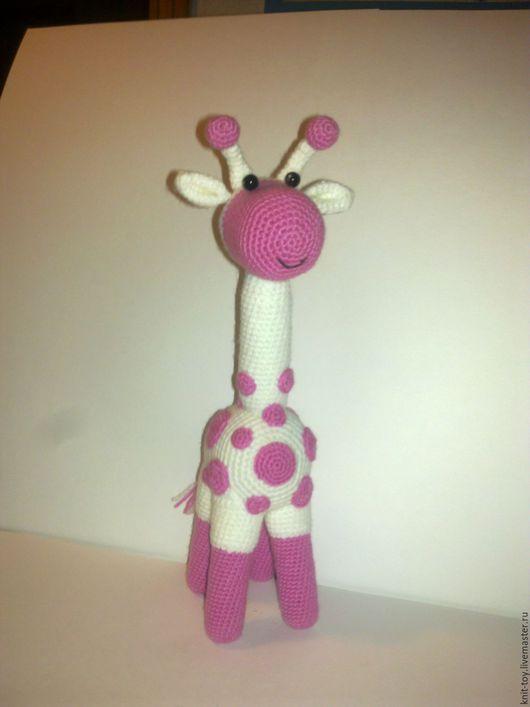 """Игрушки животные, ручной работы. Ярмарка Мастеров - ручная работа. Купить Вязаный жираф """"Стеша"""". Handmade. Белый, жирафик, бусины"""