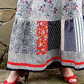 Одежда ручной работы. Ярмарка Мастеров - ручная работа Летняя длинная юбка с вышивкой. Handmade.