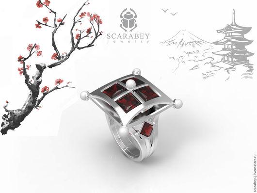 """Кольца ручной работы. Ярмарка Мастеров - ручная работа. Купить Кольцо """"Японские мотивы"""" из серебра. Handmade. Серебряный, кольцо в подарок"""