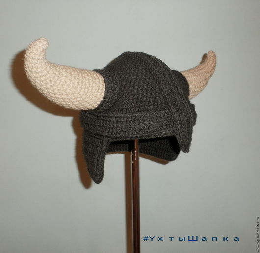 Шапки ручной работы. Ярмарка Мастеров - ручная работа. Купить Шапка шлем Викинг. Handmade. Серый, викинг украина, ухтышапка