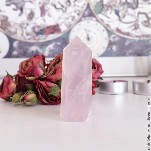 Эзотерические аксессуары ручной работы. Ярмарка Мастеров - ручная работа. Купить Кристалл розового кварца. Handmade. Розовый, розовый кварц