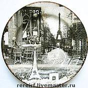 """Посуда ручной работы. Ярмарка Мастеров - ручная работа Тарелка """"Прогулки по Парижу"""". Handmade."""