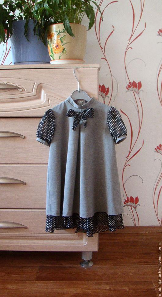 Одежда для девочек, ручной работы. Ярмарка Мастеров - ручная работа. Купить Нарядное серое платье для девочки. Handmade. Серый