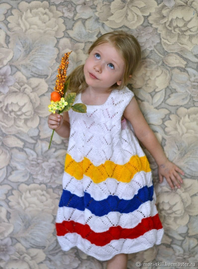 """Вязаный сарафан  на девочку """" Сестрица Алёнушка  """", Платья, Богородск,  Фото №1"""