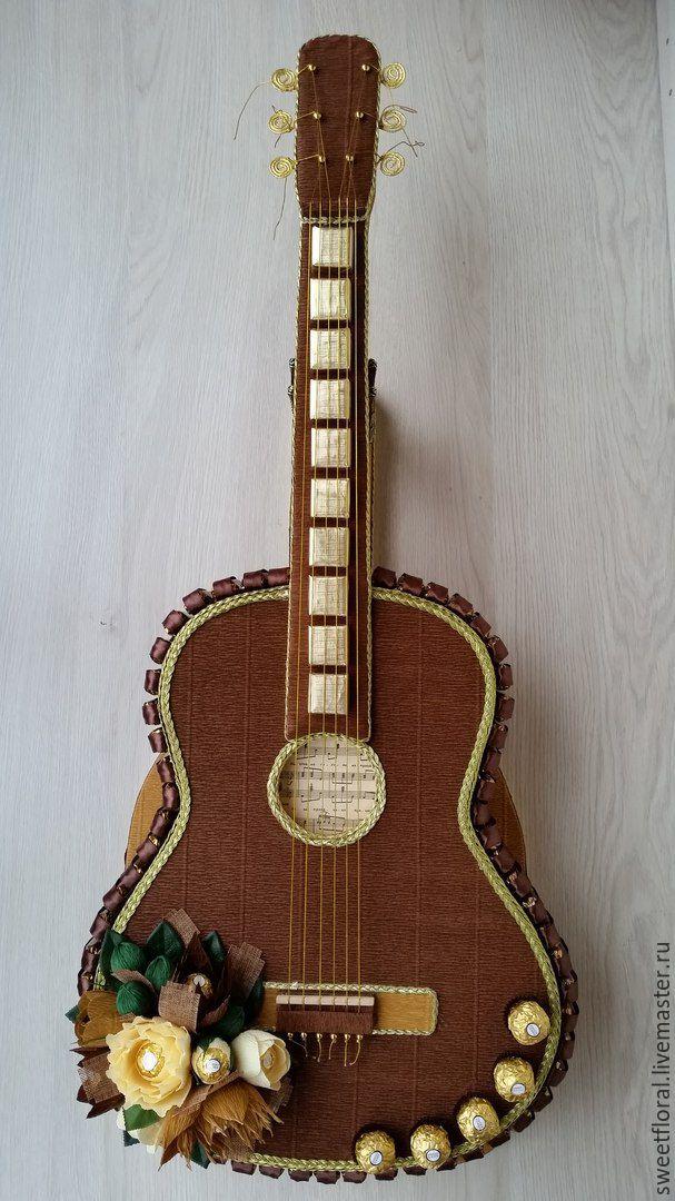 Как сделать гитару из конфет своими руками пошаговое