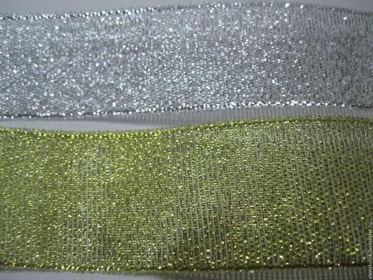 Другие виды рукоделия ручной работы. Ярмарка Мастеров - ручная работа. Купить Лента парча 25 мм. Handmade. Золотой