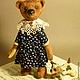 Мишки Тедди ручной работы. Ярмарка Мастеров - ручная работа. Купить Верочка. Handmade. Коричневый, мишка в одежке, маленькая собачка