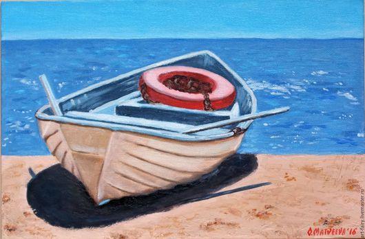 Пейзаж ручной работы. Ярмарка Мастеров - ручная работа. Купить Море, море.... Handmade. Синий, морская тема, картина маслом