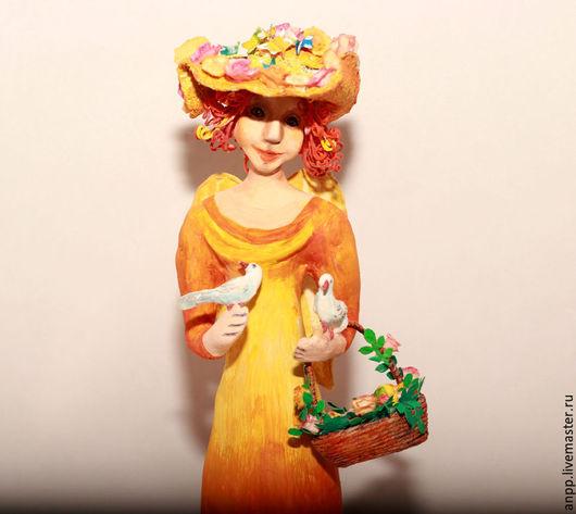 Статуэтки ручной работы. Ярмарка Мастеров - ручная работа. Купить Интерьерная кукла. Фея чудесного солнечного дня. Handmade. Рыжий