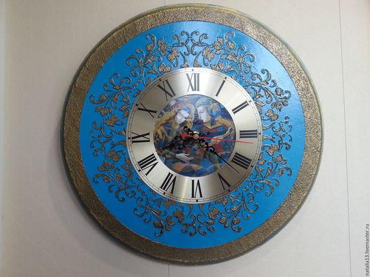 """Часы для дома ручной работы. Ярмарка Мастеров - ручная работа. Купить Настенные часы """"Уроки игры на гитаре"""". Handmade. Часы"""
