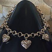 Украшения ручной работы. Ярмарка Мастеров - ручная работа Ожерелье позолоченное. Handmade.