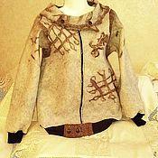 """Одежда ручной работы. Ярмарка Мастеров - ручная работа Джемпер валяный """"Зигзаг удачи"""". Handmade."""