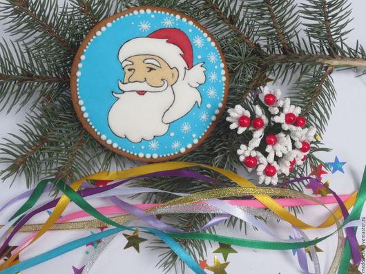 Кулинарные сувениры ручной работы. Ярмарка Мастеров - ручная работа. Купить Пряник  Дед Мороз из сказки. Handmade. Сладкий подарок