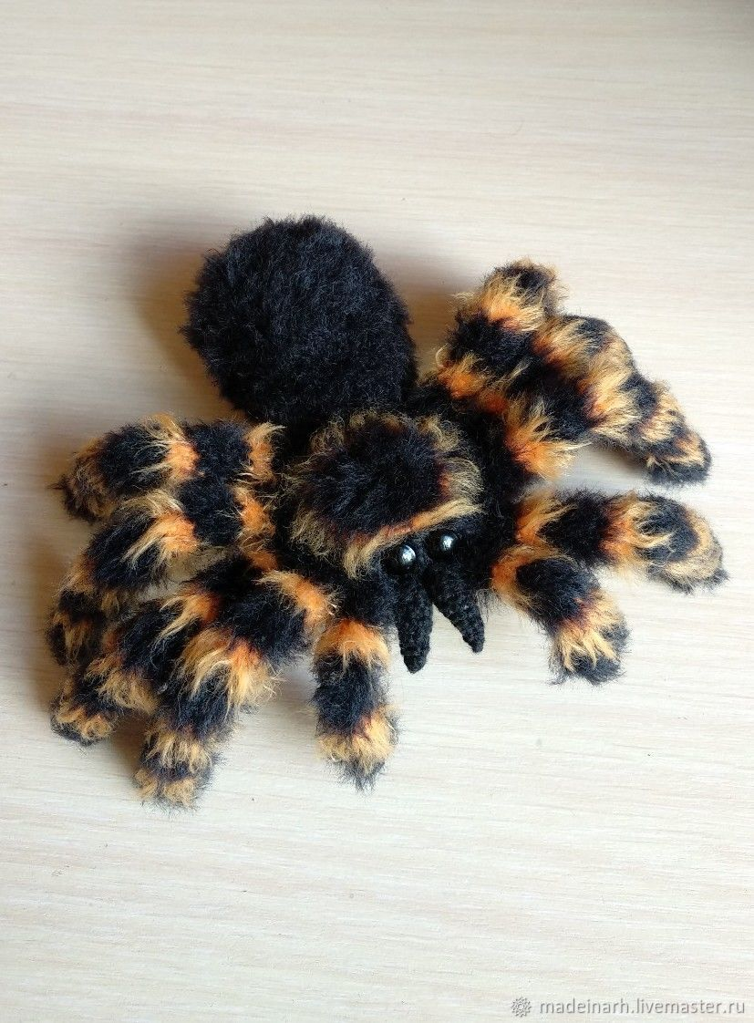 Spider knitted toy, Stuffed Toys, Arkhangelsk,  Фото №1