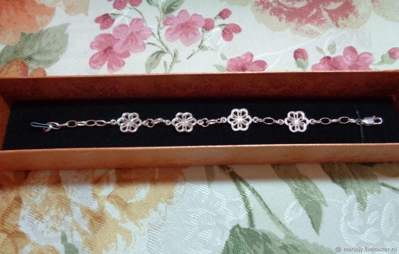 925 silver bracelet ' Flowers', Bead bracelet, Sergiev Posad,  Фото №1