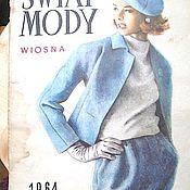 Винтаж ручной работы. Ярмарка Мастеров - ручная работа Журнал Swiat Mody 1964 год весна № 59. Handmade.