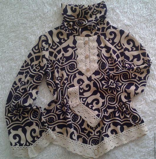 Кофты и свитера ручной работы. Ярмарка Мастеров - ручная работа. Купить Туника теплая для девочки этно-бохо-кантри с льняной тесьмой. Handmade.