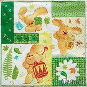 Материалы для творчества handmade. Livemaster - original item Napkin for decoupage love rabbit print. Handmade.