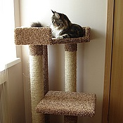 Для домашних животных, handmade. Livemaster - original item Scratching post with bed