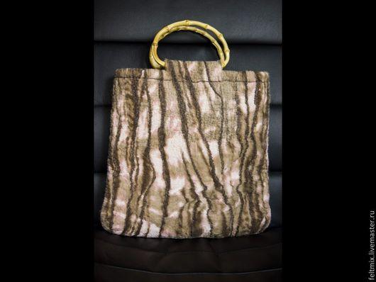 Женские сумки ручной работы. Ярмарка Мастеров - ручная работа. Купить Валяная сумочка Раннее утро в лесу. Handmade.