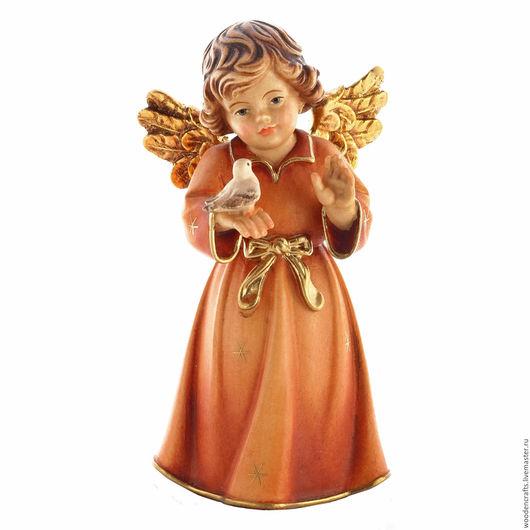 Статуэтки ручной работы. Ярмарка Мастеров - ручная работа. Купить Ангел с голубкой. Handmade. Разноцветный, подарок на 8 марта, голубь