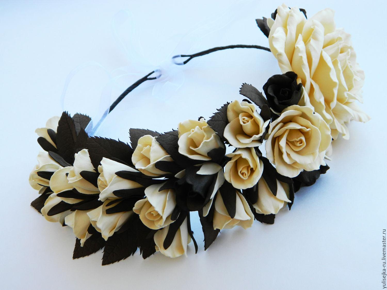 Фото венок с цветами из фоамирана мастер класс