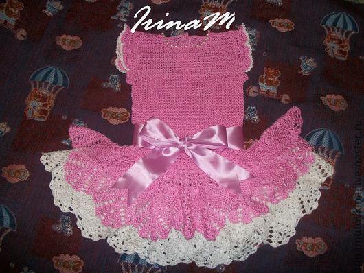 """Одежда для девочек, ручной работы. Ярмарка Мастеров - ручная работа. Купить Платье """"Розовые мечты"""". Handmade. Платье, крючком"""