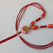 Украшения handmade. Livemaster - original item Necklace Autumn morning sponge red coral. Handmade.