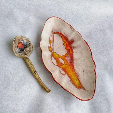 Для дома и интерьера ручной работы. Ярмарка Мастеров - ручная работа Селедочница с ложкой. Handmade.