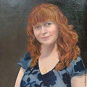 """Картины и панно ручной работы. Ярмарка Мастеров - ручная работа Портрет """"Юлии"""". Handmade."""