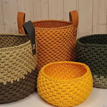 Для дома и интерьера ручной работы. Ярмарка Мастеров - ручная работа Интерьерные корзины. Handmade.