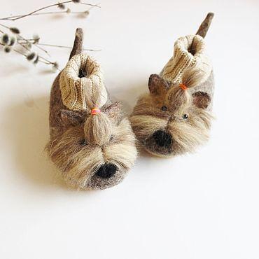 Footwear handmade. Livemaster - original item Copy of Copy of felted slipper  socks for children mouse pink. Handmade.