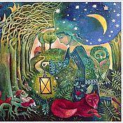 """Картины и панно ручной работы. Ярмарка Мастеров - ручная работа Серия картин """"Сказка на ночь"""". Handmade."""